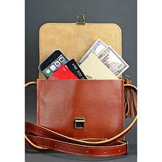 Кожаная женская бохо-сумка Лилу светло-коричневая, фото 2