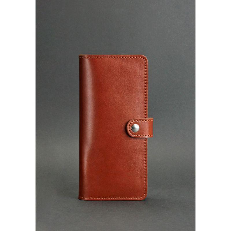 Кожаное женское портмоне 7.0 светло-коричневое
