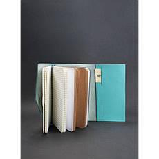 Женский кожаный блокнот (Софт-бук) 2.0 бирюзовый, фото 2