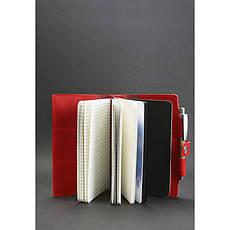 Женский кожаный блокнот (Софт-бук) 4.0 коралловый, фото 2
