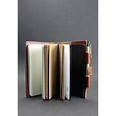 Шкіряний блокнот (Софт-бук) 4.0 світло-коричневий, фото 2