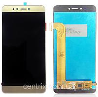 Дисплей (экран) для Prestigio MultiPhone PSP3530 Muze D3/3531 Muze E3/7530 Muze A7 с тачскрином, золотистый