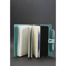 Женский кожаный блокнот (Софт-бук) 4.0 бирюзовый, фото 2