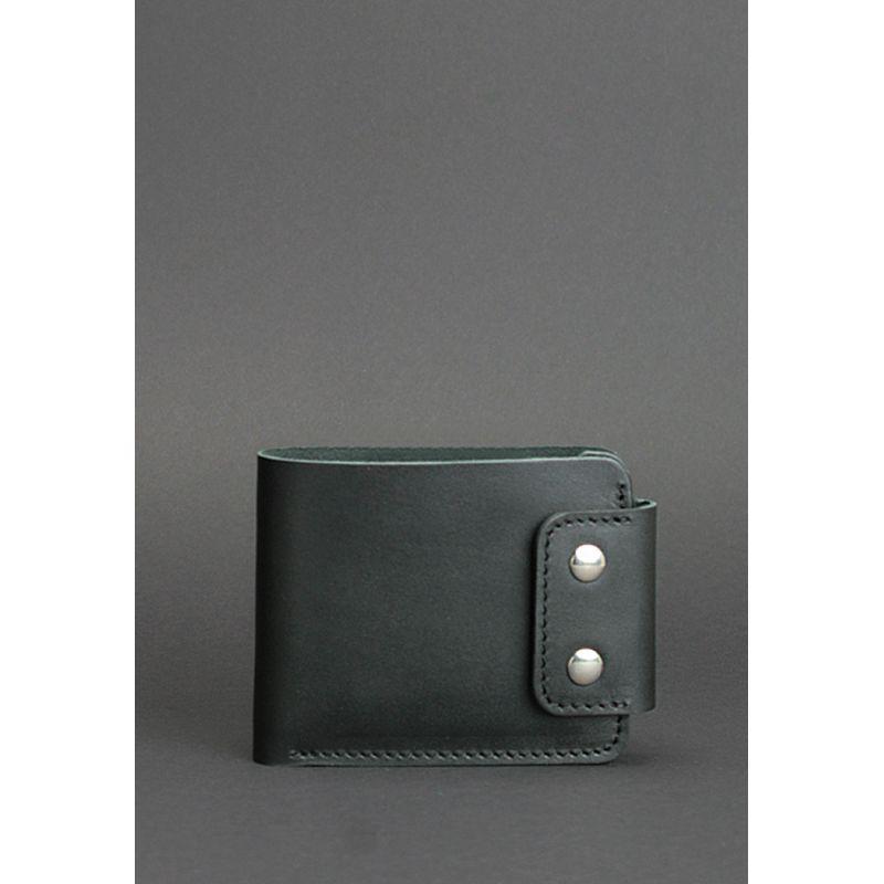 Мужское кожаное портмоне Zeus 9.0 черное