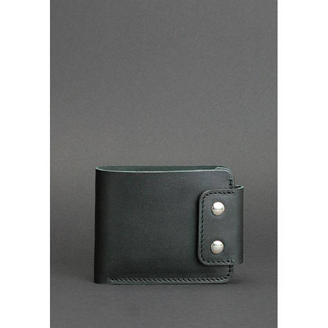 Мужское кожаное портмоне Zeus 9.0 черное, фото 2
