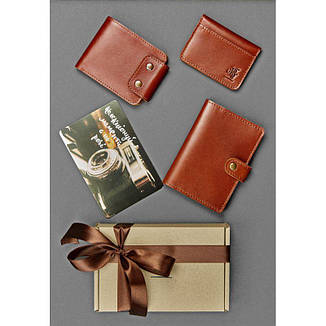 Мужской подарочный набор кожаных аксессуаров Чикаго, фото 2