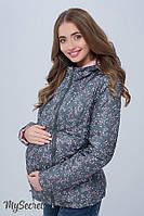 Демисезонная двухсторонняя куртка для беременных Floyd, пыльный хакки цветы с пудрой