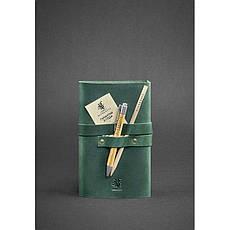 Кожаный блокнот (Софт-бук) 1.0 зеленый, фото 3