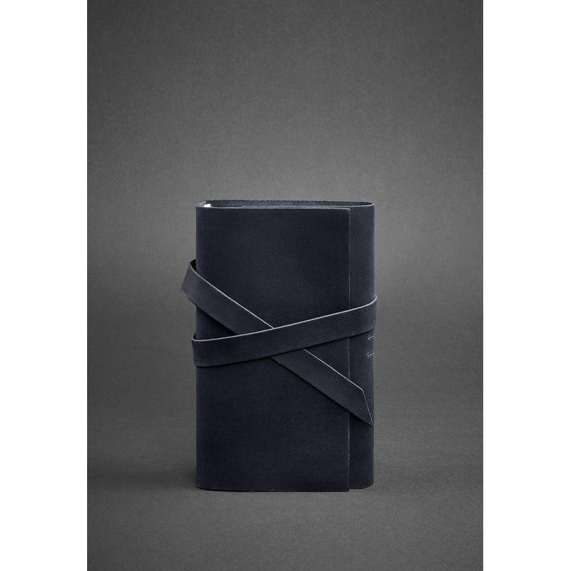 Кожаный блокнот (Софт-бук) 1.0 синий