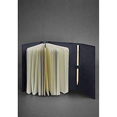 Кожаный блокнот (Софт-бук) 1.0 синий, фото 2