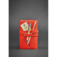 Женский кожаный блокнот (Софт-бук) 1.0 коралловый, фото 3