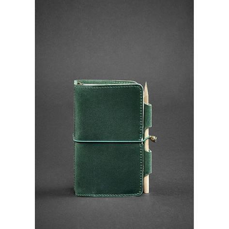 Кожаный блокнот (Софт-бук) 3.0 зеленый, фото 2