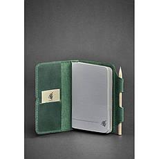 Кожаный блокнот (Софт-бук) 3.0 зеленый, фото 3