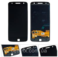 Дисплей (экран) для Motorola XT1650 Moto Z + тачскрин, цвет черный, оригинал