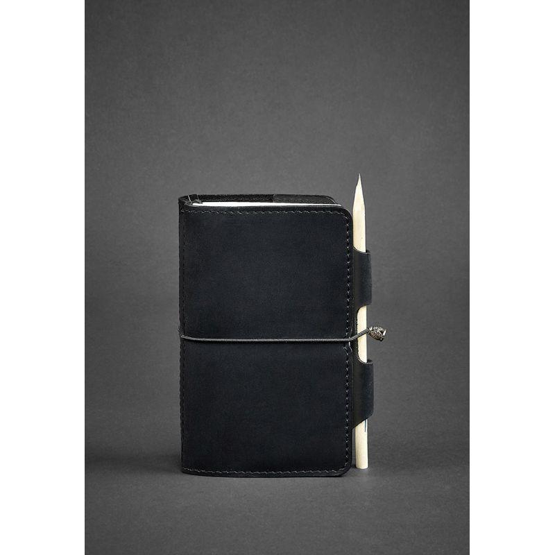 Кожаный блокнот (Софт-бук) 3.0 черный