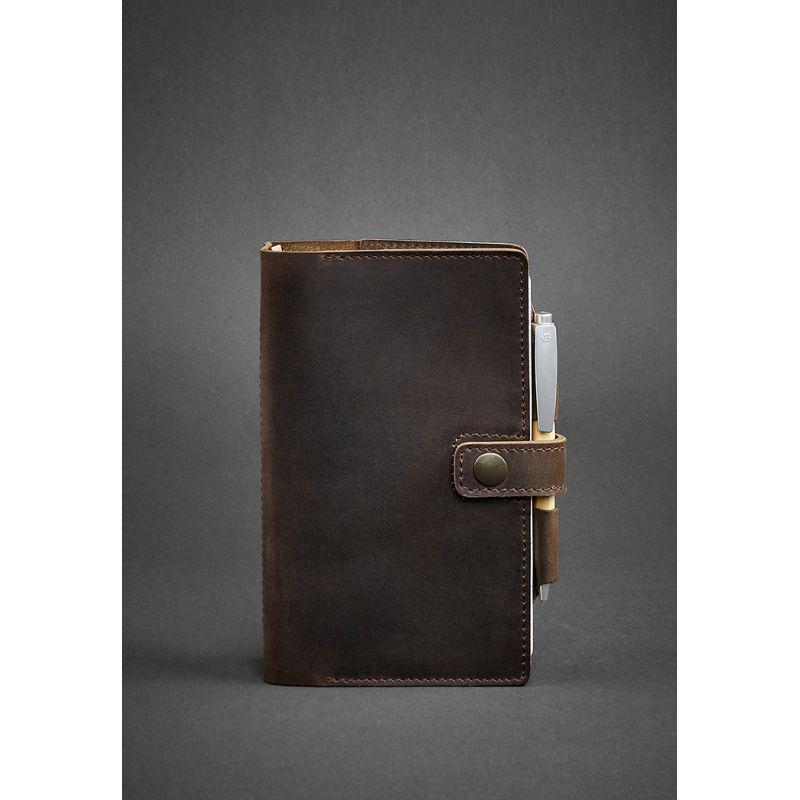 Кожаный блокнот (Софт-бук) 4.0 темно-коричневый