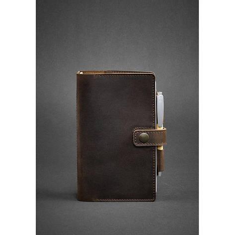 Кожаный блокнот (Софт-бук) 4.0 темно-коричневый, фото 2