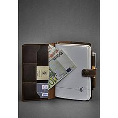 Кожаный блокнот (Софт-бук) 4.0 темно-коричневый, фото 3