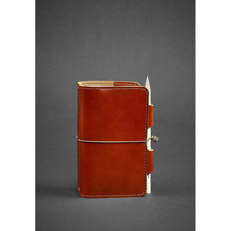 Кожаный блокнот (Софт-бук) 3.0 светло-коричневый