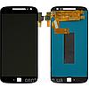 Дисплей (екран) для Motorola XT1641 Moto G4 Plus, XT1642, XT1644 + тачскрін, колір чорний
