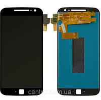 Дисплей (экран) для Motorola XT1641 Moto G4 Plus, XT1642, XT1644 + тачскрин, цвет черный