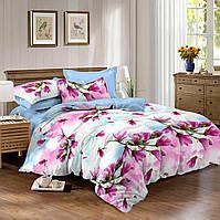 Двуспальный комплект постельного белья евро 200*220 сатин (10086) TM КРИСПОЛ Украина