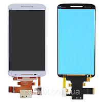 Дисплей (экран) для Motorola XT1562 Moto X Play, XT1561, XT1563, XT1564 + тачскрин, цвет белый