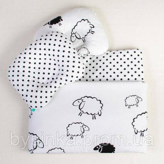 Постельное белье в детскую колыбель BabySoon три предмета Белоснежные барашки (415)