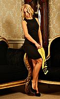 """Костюм женский с кружевом """" Виталина """"  желтого цвета, фото 1"""