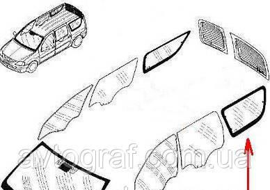 Стекло заднее левое и правое на Рено Логан (Renault Logan) MCV 2004-2013