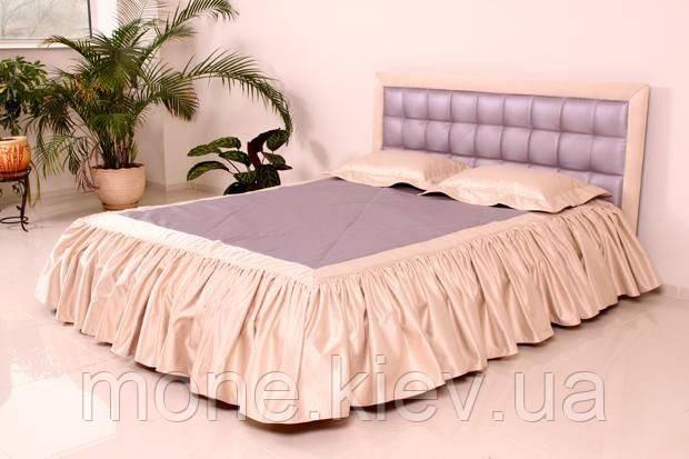 """Кровать """"Нифертити"""" двуспальная с мягким изголовьем и подъемным механизмом"""