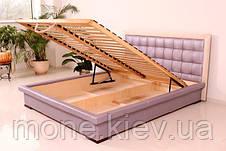 """Кровать """"Нифертити"""" двуспальная с мягким изголовьем и подъемным механизмом , фото 3"""