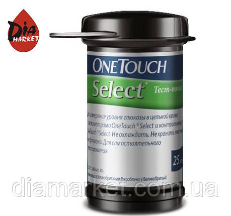 Тест-полоски ВанТач Селект (OneTouch Select) - 25 шт.