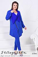 Стильный костюм Косуха для полных индиго, фото 1