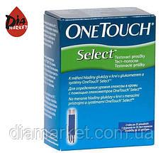 Тест-полоски ВанТач Селект (OneTouch Select) - 1 упаковка по 50 шт.
