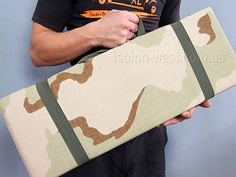 """Каремат для военных, износостойкий складной 180х60см, 3 Сolor Desert """"Буря в пустыне"""", Cordura 1000D"""