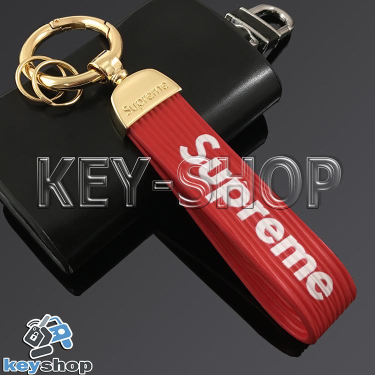 Брелок для ключів SUPREME, силіконовий (червоний)
