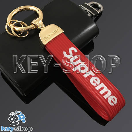 Брелок для ключів SUPREME, силіконовий (червоний), фото 2