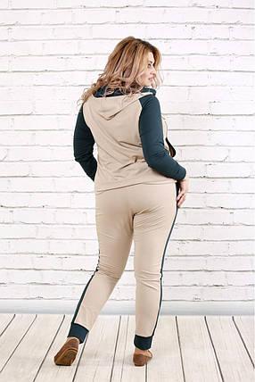 Женский спортивный костюм 0782 / размер 42-74 / цвет зеленый, фото 2