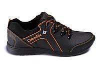 Мужские кожаные кроссовки Columbia Stage 1 orange (реплика)