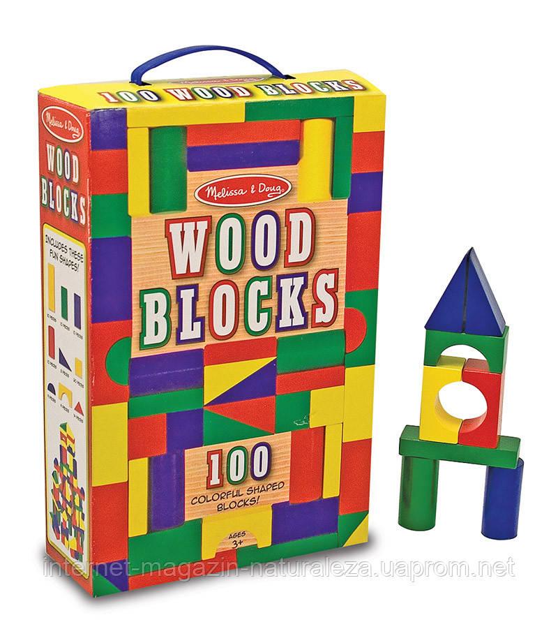 Деревянная игрушка Melissa&Doug 100 деревянных кубиков