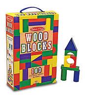 Деревянная игрушка ТМ Melissa&Doug 100 деревянных кубиков