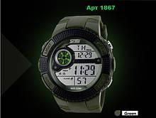 Тактические светодиодные часы Skmei  хаки