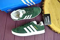Кроссовки женские Adidas Gazelle темно-зеленые 2599