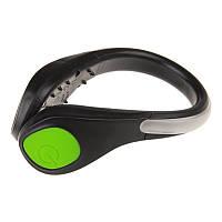 Светодиодный браслет на обувь, зелёный