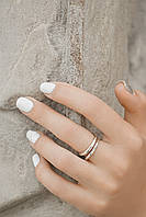 Двойное сжатое - серебряное кольцо 925 пробы