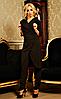 """Деловой женский костюм """" Виолетта """"  чёрного цвета"""