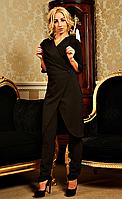 """Деловой женский костюм """" Виолетта """"  чёрного цвета, фото 1"""
