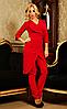 """Стильный женский костюм """" Виолетта """"  красного цвета"""
