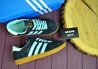 Кроссовки женские Adidas Hamburg синие 2615